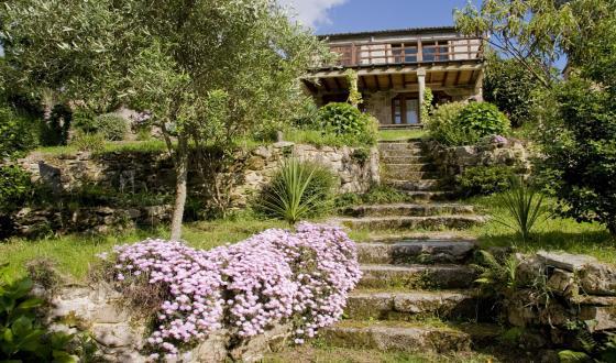 Alquiler casa en porto do son a coru a galicia costameiga for Jardines galicia